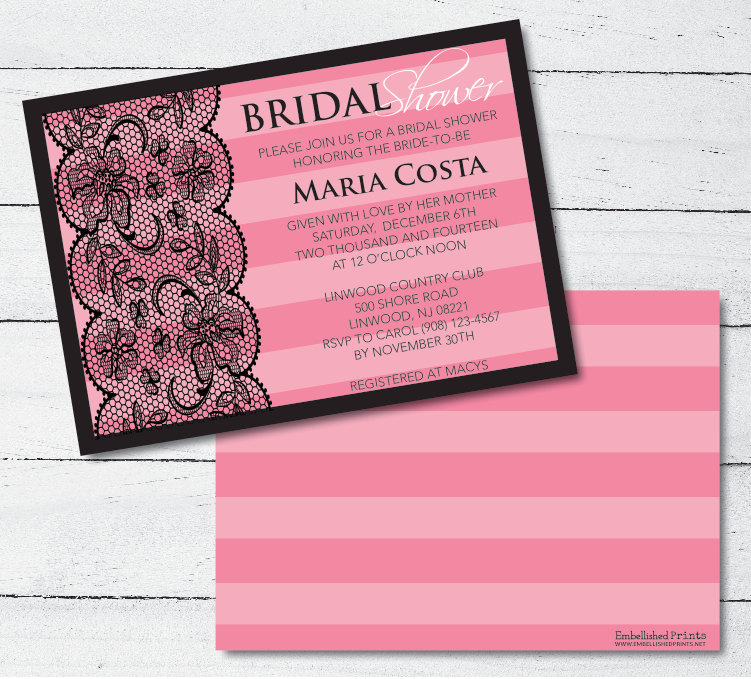 victoria secret themed bridal shower invitation