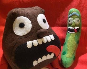 Rick and Morty Inspired Pickle Rick and Potato Morty Plushes