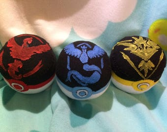 Pokemon Go Inspired Team Pokeballs