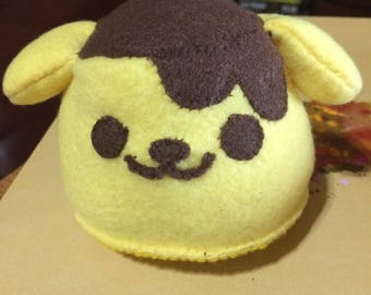 Pompompurin Inspired Mini Flan Plush