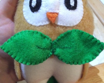 Pokemon Sun & Moon Inspired Mini Rowlet plush