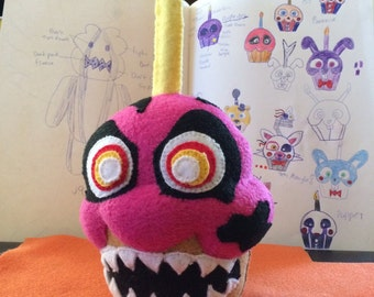 Five Nights at Freddy's Inspired Nightmare Cupcake