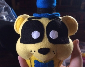 Five Nights of Freddy's Inspired Golden Freddy Cupcake