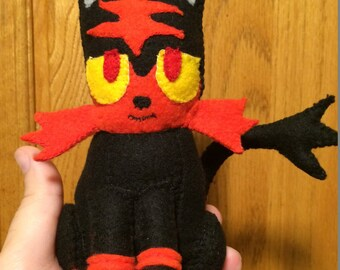Pokemon Sun & Moon inspired Litten Plush