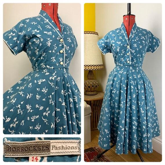 Vintage 1950's Horrockses Fashions Full Skirt Blue