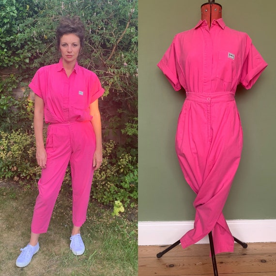 Vintage 1980's 90's hot pink shirt and trousers se