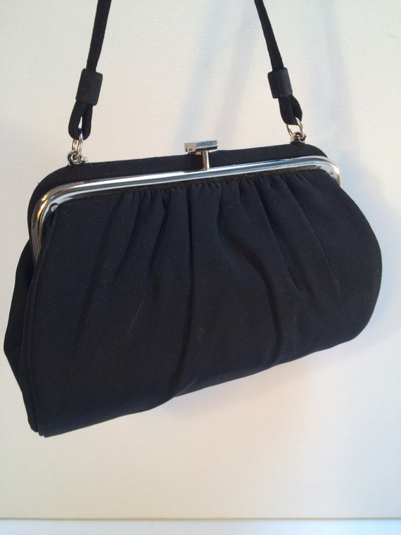 Mid-Century Evening Bag, Top Handle Evening Purse,
