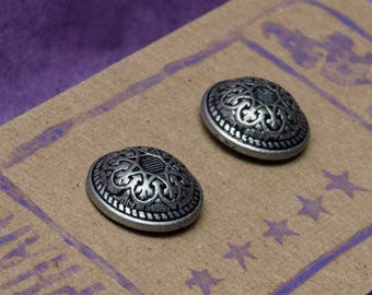 Domed Button Post Earrings