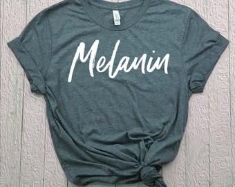 59157dfa8bb2 Melanin Shirt, Melanin T-Shirt, Melanin Poppin, Black Girl Magic, Gift For  Her, Girlfriend Gift, Women of Color, Heather Gray Unisex S-2X