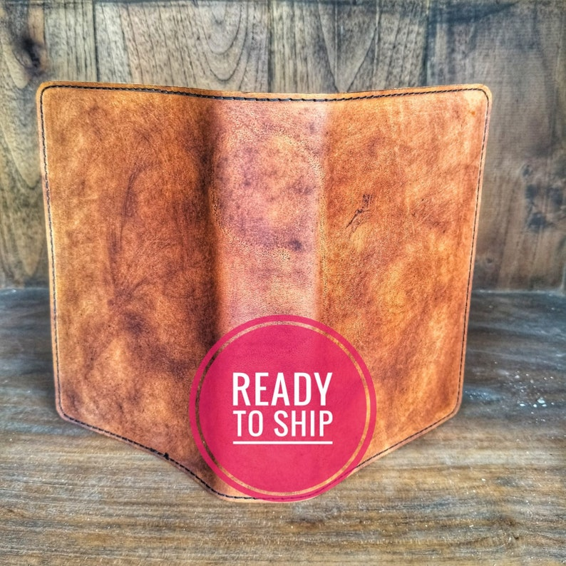 Handmade STANDARD size JW Leather Bible cover for New World Translation  ready to be shipped! Antique Tan colour Initials can be added