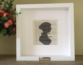 12e5f949261 Framed literary print - jane austen print - framed quote - reading quote -  book page art - home decor - wall art- book page art