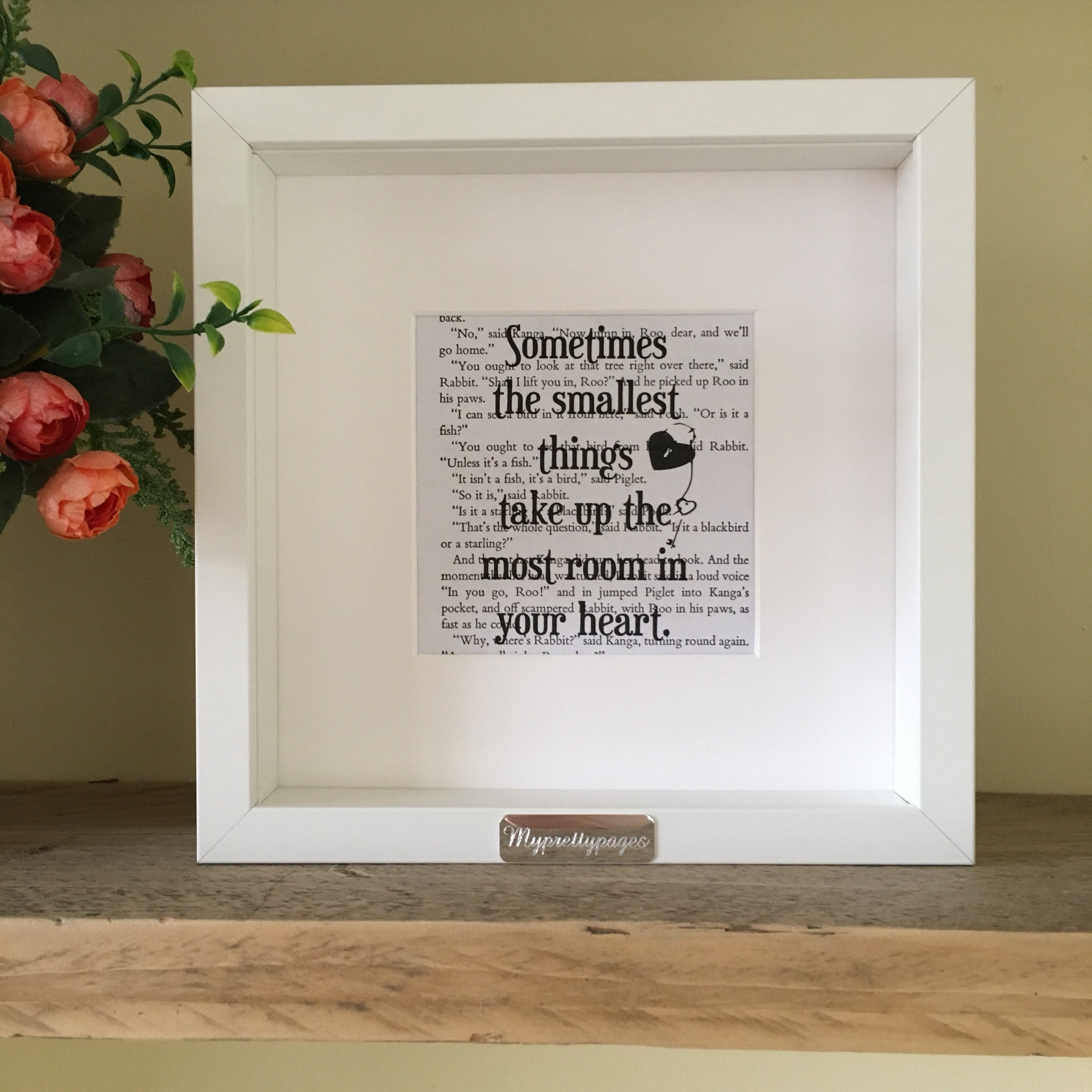 Winnie The Pooh Quote Framed Print Framed Quote Wall Etsy
