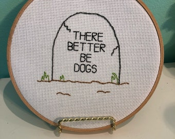 Headstone Embroidery