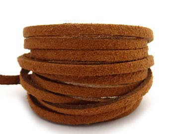 1 m Brown 3 mm x 1.5 mm suede cord