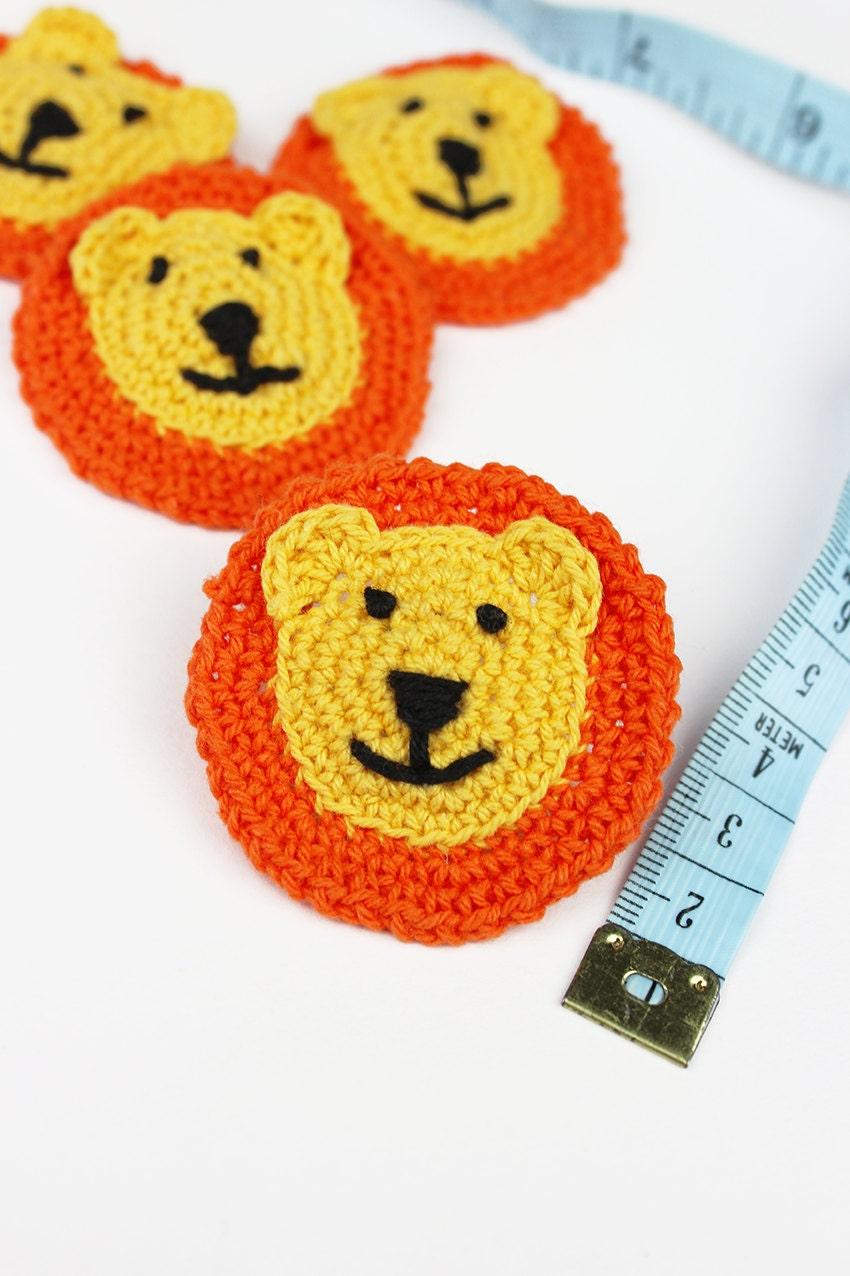 Häkeln Löwen Applikationen 4pk Tierfarm beliefert Handwerk