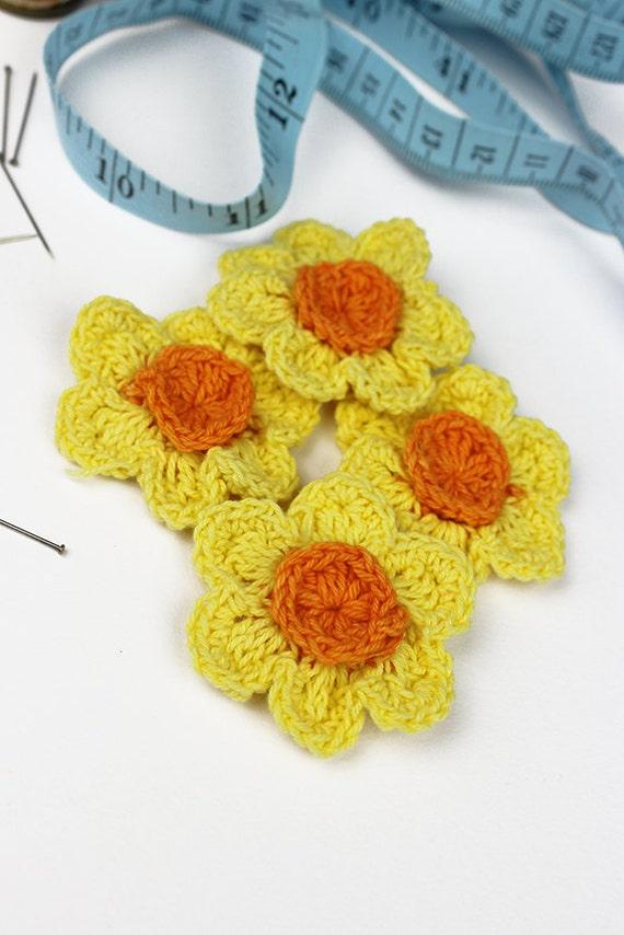 Häkelblumen Sie Narzissen 4pk häkeln Blumen häkeln   Etsy