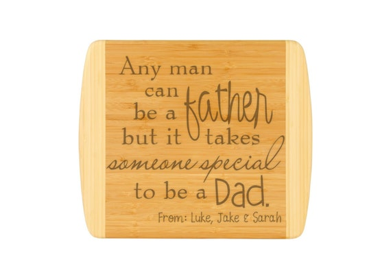 Closing Gift Wedding Gift Laser Engraved Two Tone Bamboo Fathers Day Gift Buck and Doe Large Cutting Board Anniversary Gift