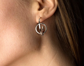 Effervescence Earrings small version, sterling silver