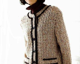 d29eb2d7d2bd Ladies beige jacket in Chanel style
