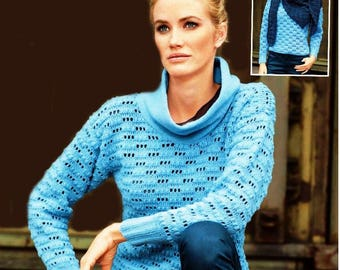 A crochet Mohair blue sweater / order