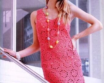 Crochet red dress / custom