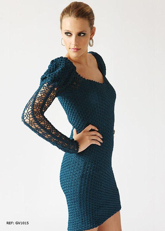 Dames Robe en maille crochet  custom