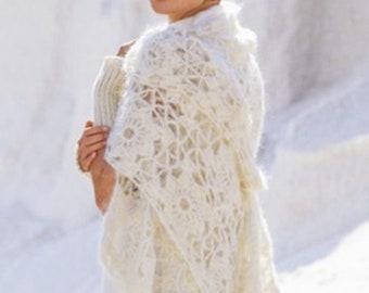 White wool, mohair women scarves / on order