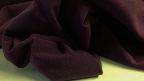 Heavy Italian plum wool fabric ideal for coats,crafts 150 cm wide