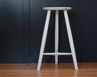 Terrific Table Height Stool Three Legged Stool In Black Walnut Free Inzonedesignstudio Interior Chair Design Inzonedesignstudiocom
