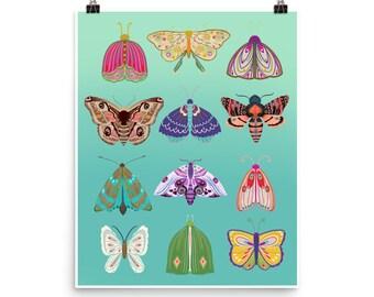 Butterflies and Moths Print
