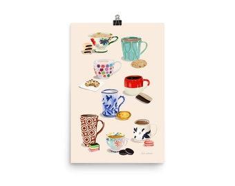 Cups & Cookies Print