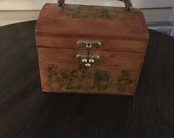 Vintage Child Wooden Handbag