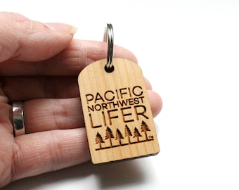 Pacific Northwest Lifer Wood Keychain | Reclaimed Wood Keychain | Gifts From Home | Pacific Northwest Gifts | PNW Love