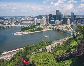 DIGITAL Pittsburgh Photo, Pittsburgh Photography, Pittsburgh Skyline, Pittsburgh Art, Photo Gifts, Pittsburgh decor, Download, Downloadable