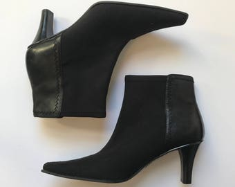 1c41533e8fd1 Circa Joan David neoprene leather sock ankle boots