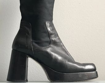 1bf2000ac8c Dick Boons  90s leather stacked platform boots