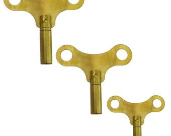 Antique Carriage Clock Winding Key #8  Metal