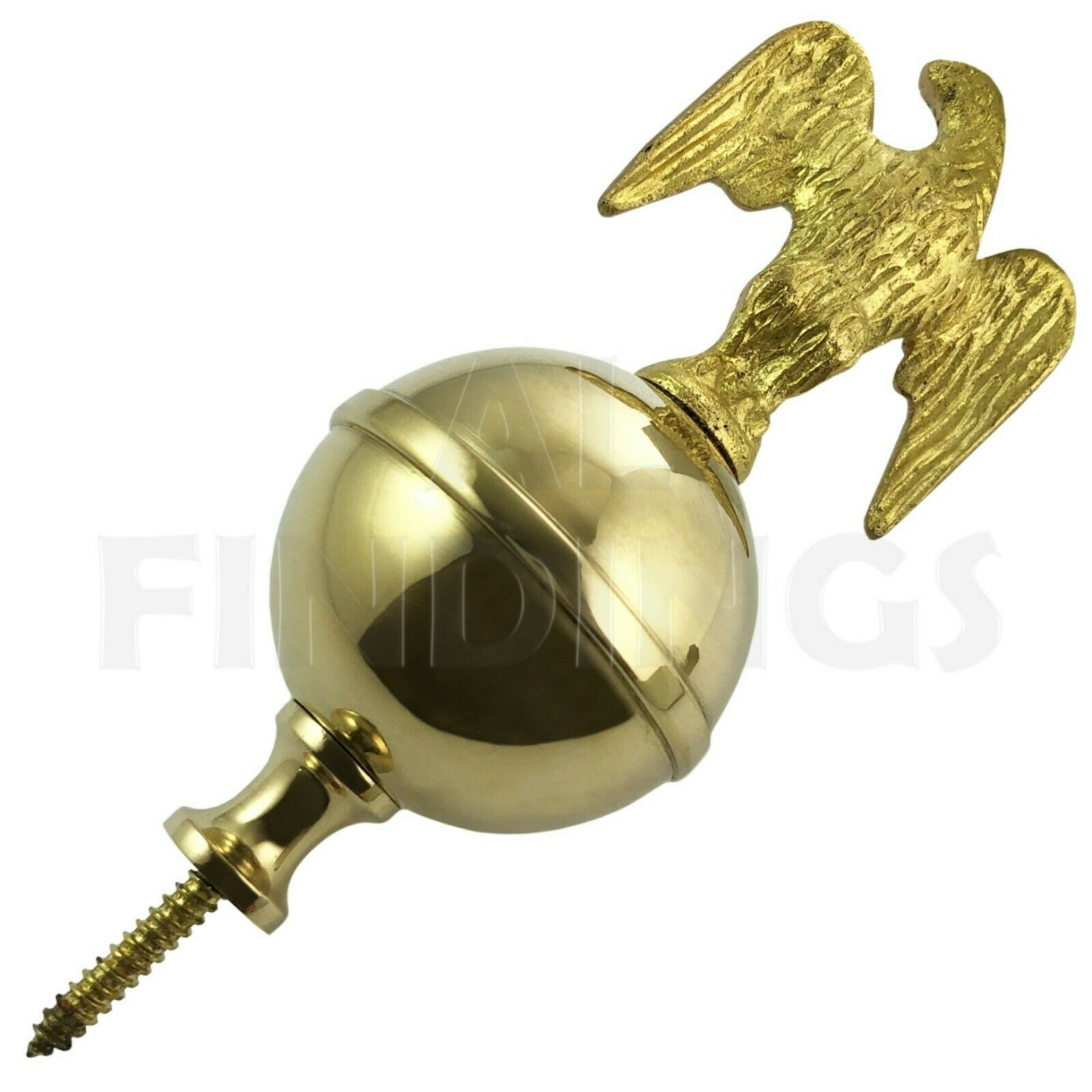 Used, Brass Ball Eagle Spire Finial Grandfather Clock Watch Tool for sale