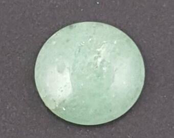 Aventurine Cabochon, 15mm round, large cab, large cabochon, round stone, large pendant stone, round cab, round cabochon, green stone, green