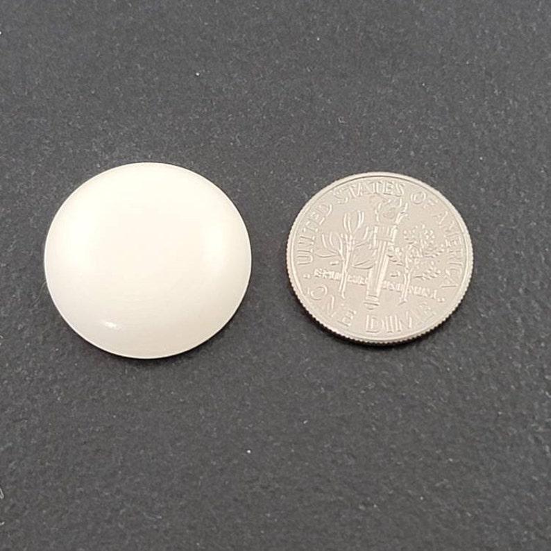 20mm Bone Cabochon 2 pieces calibrated cab stone round large white mgsupply jewelry making