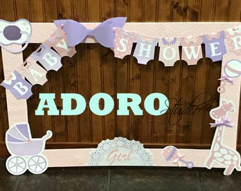 baby shower photo booth frame / custom photo booth frame