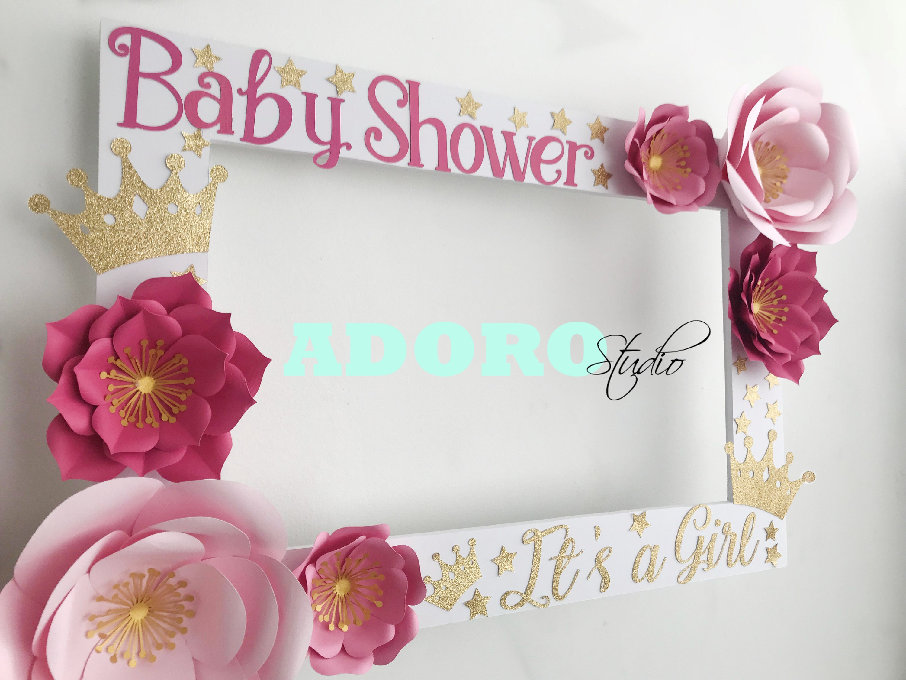 Baby Shower Photo Booth Frame Birthday Party Selfie