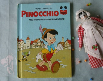 Pinocchio and His Puppet Show Adventure, vintage Disney book club
