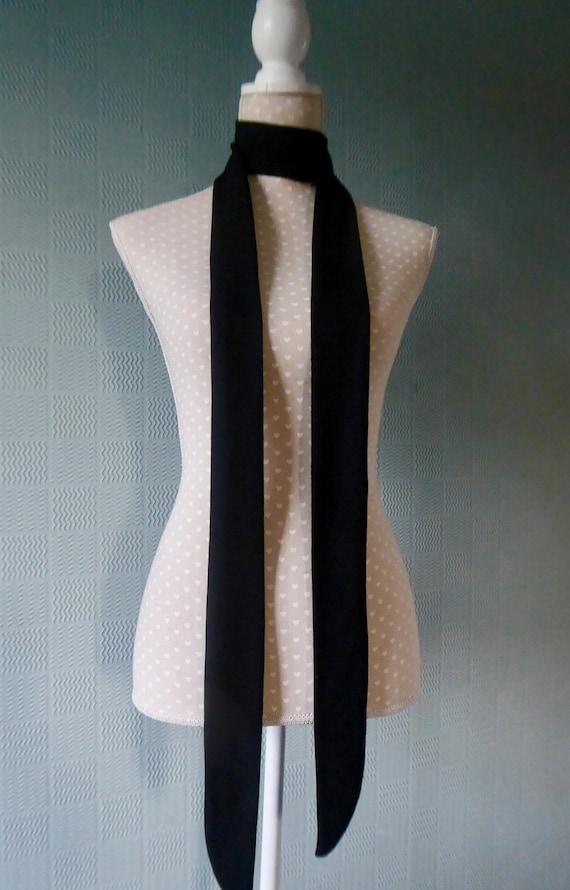 Red tartan skinny scarf sixties mod tie extra long thin plaid unisex tie checked