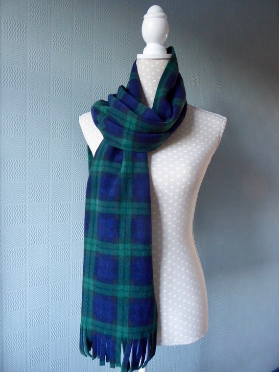 Foulard tartan bleu et vert enveloppement polaire Black Watch   Etsy 11505ab587c
