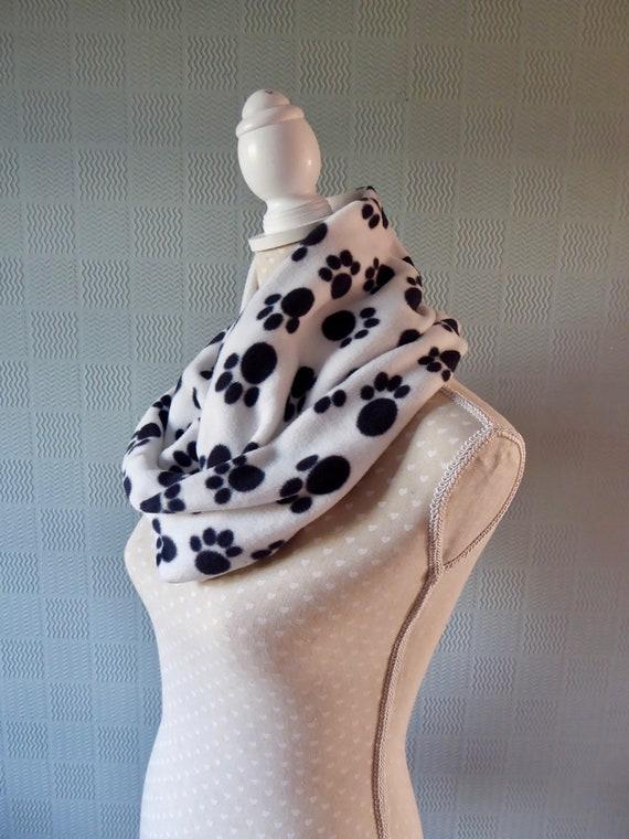 Cruella de Ville snood scarf Dalmatian print neckwarmer animal print loop//cowl