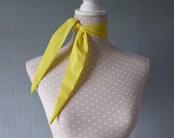 Yellow rockabilly scarf, yellow cowboy scarf, retro vintage style scarf