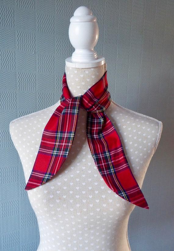 Royal Stewart Tartan scarf tartan bandana plaid pin up red tartan hair scarf
