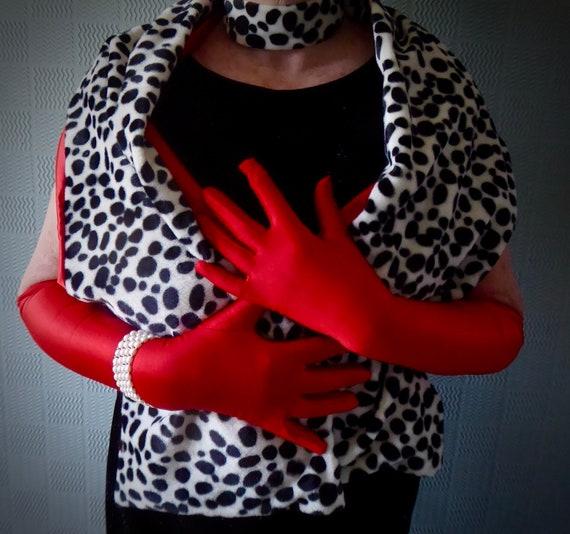 black and white animal print wrap Dalmatian print shawl Cruella de ville stole