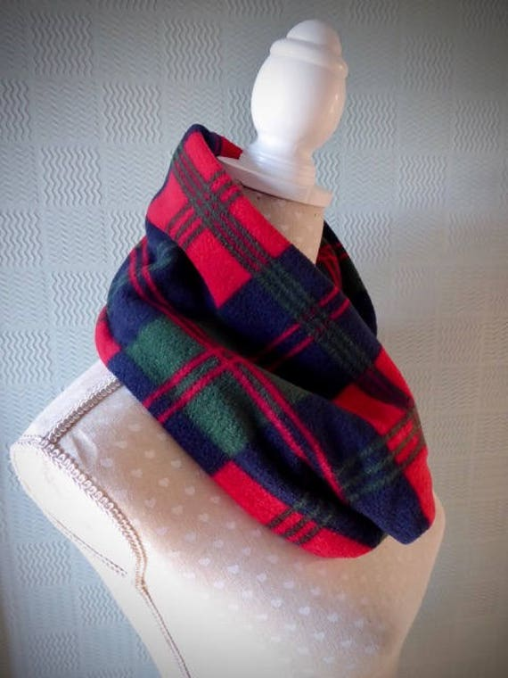 New Unisex Check Neck Warmer Snood Neck scarf